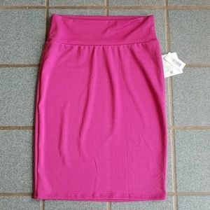 Lularoe Cassie Pink Stretch Pencil Skirt Size M